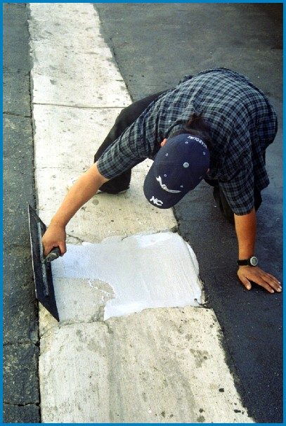 Putting the finishing touches to a GeoSet concrete repair