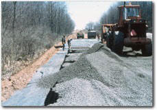 Geoweb Road Project Aggregate Infill